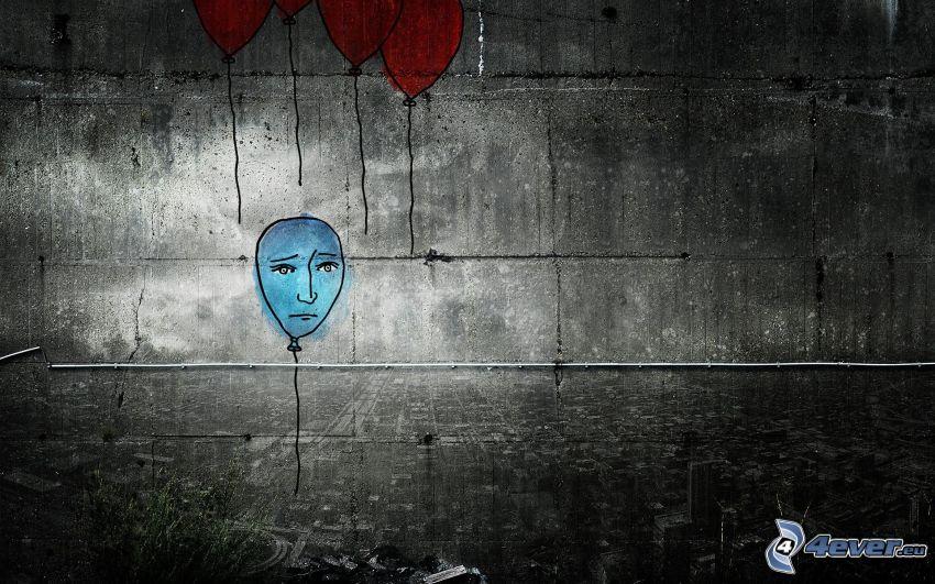 palloncini, solitudine, tristezza
