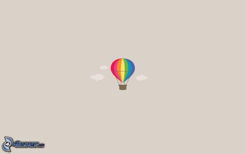 palloncino, colori di arcobaleno