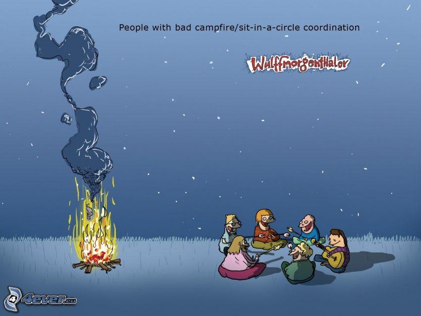 personaggi dei cartoni animati, fuoco, text