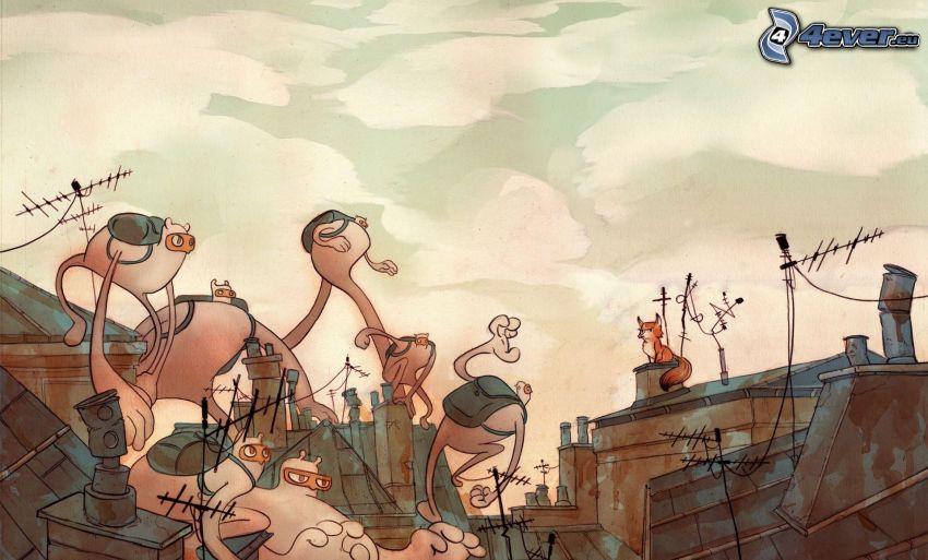 personaggi dei cartoni animati, volpe disegnata