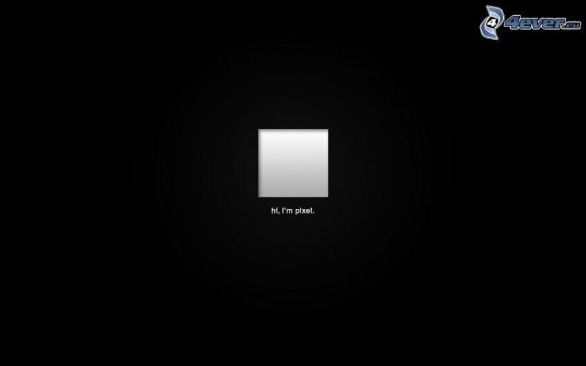 pixel, sfondo nero