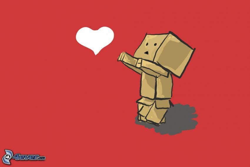 robot di carta, cuore