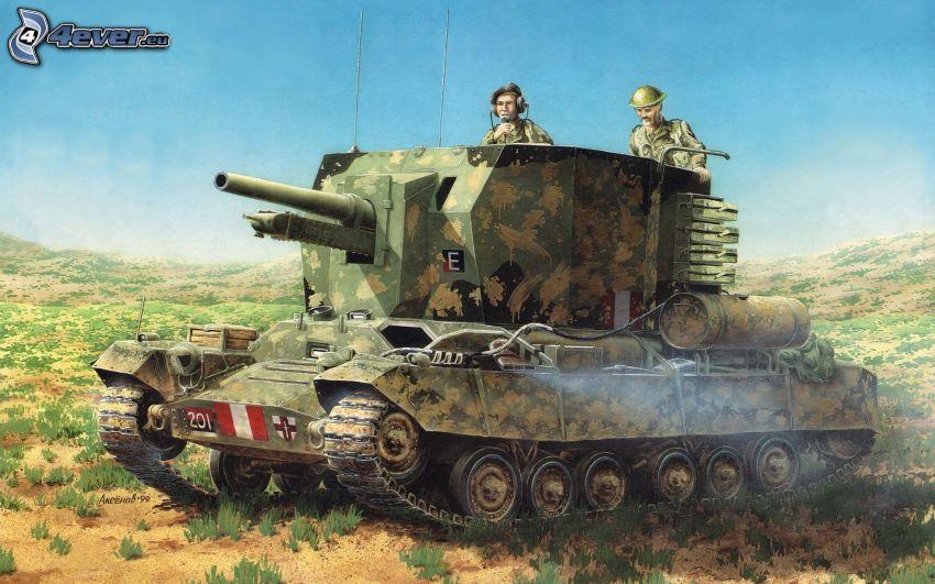 Seconda guerra mondiale, carro armato, soldati