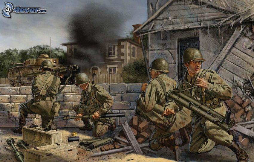 Seconda guerra mondiale, soldati