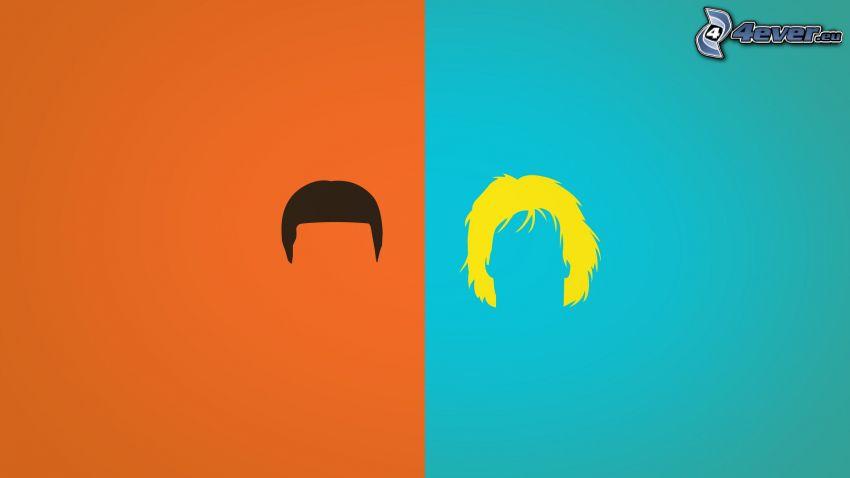 siluette, capelli