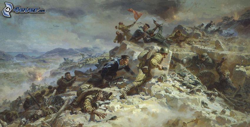 soldati, battaglia