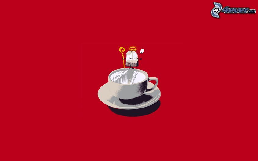 tè, tazza, aureola, Mosè