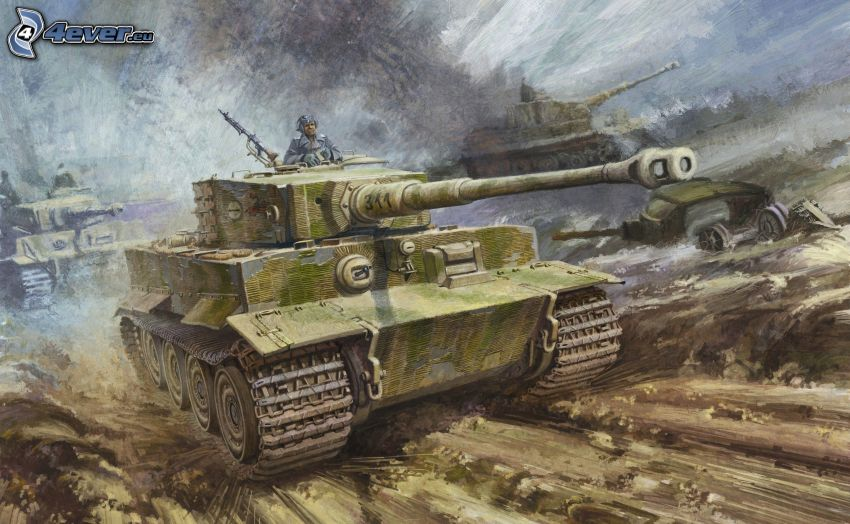 Tiger, carro armato, soldato, Seconda guerra mondiale