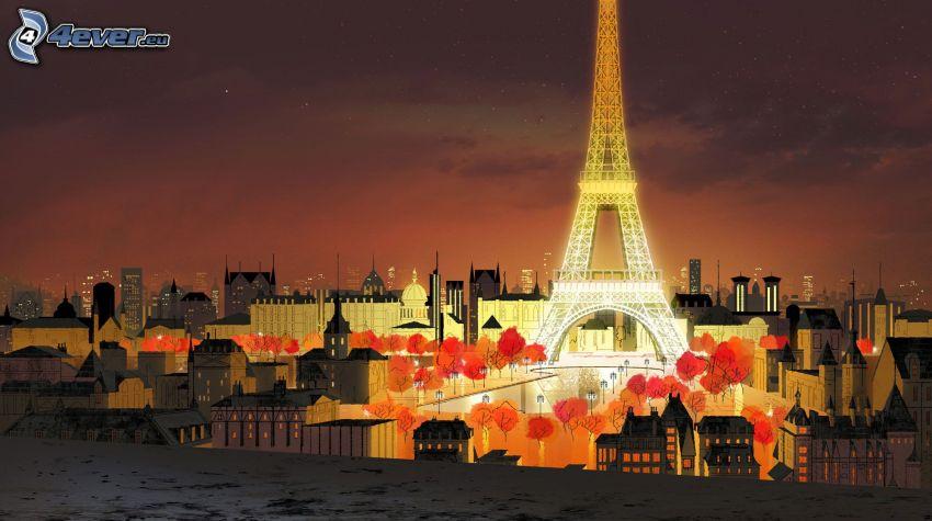 Torre Eiffel, Parigi, città