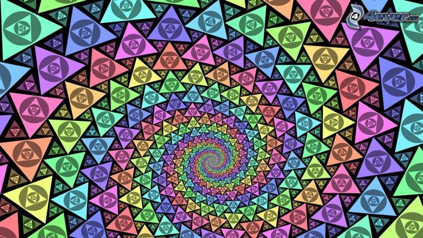 triangoli, spirale