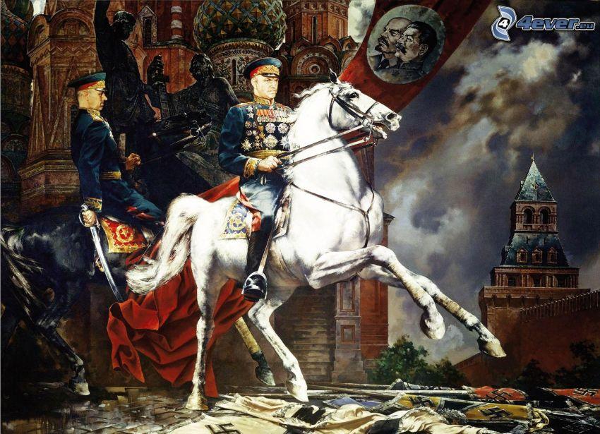 uomini, cavalli, cavallo bianco