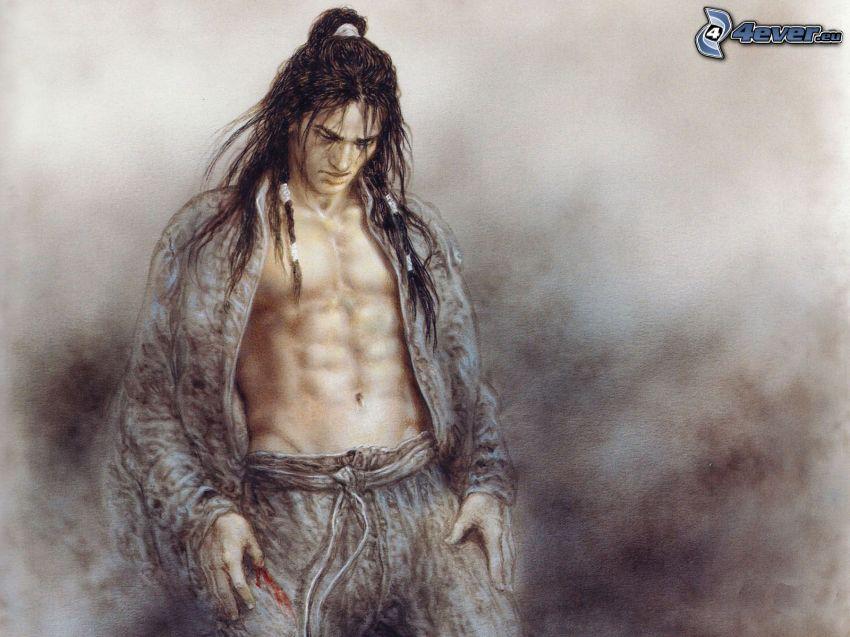 uomo cinese, Luis Royo, fantasy