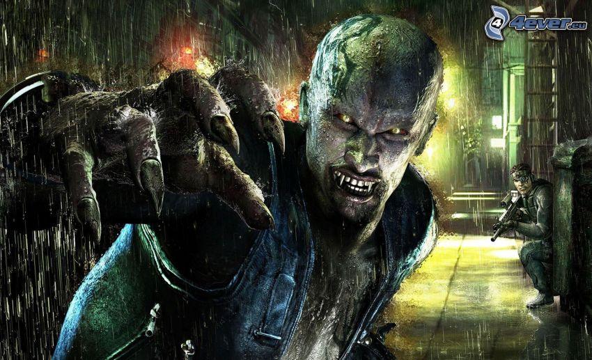 vampiro, pioggia