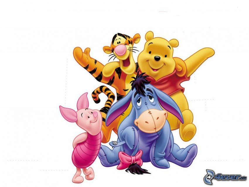 I personaggi dei cartoni animati winnie the pooh della scultura