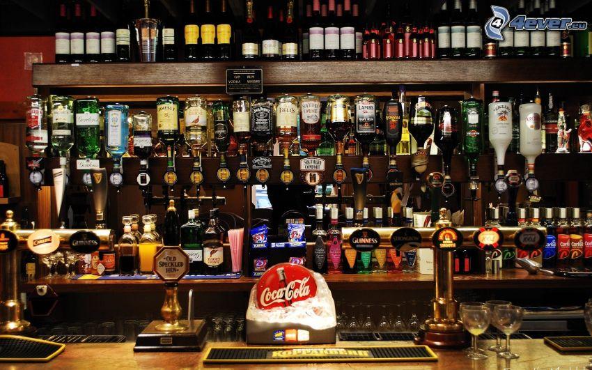 bar, alcool
