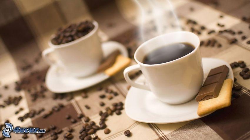 caffè, chicchi di caffè