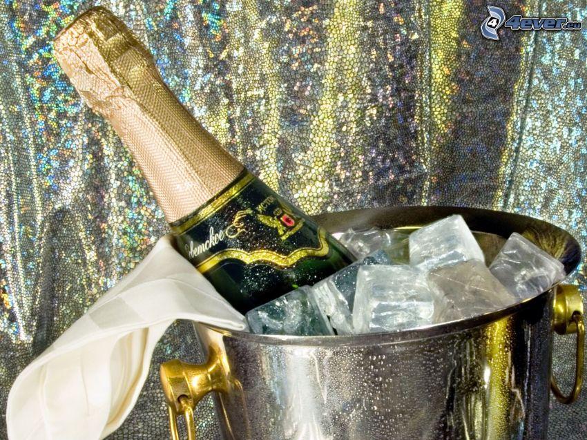 champagne, ghiaccio