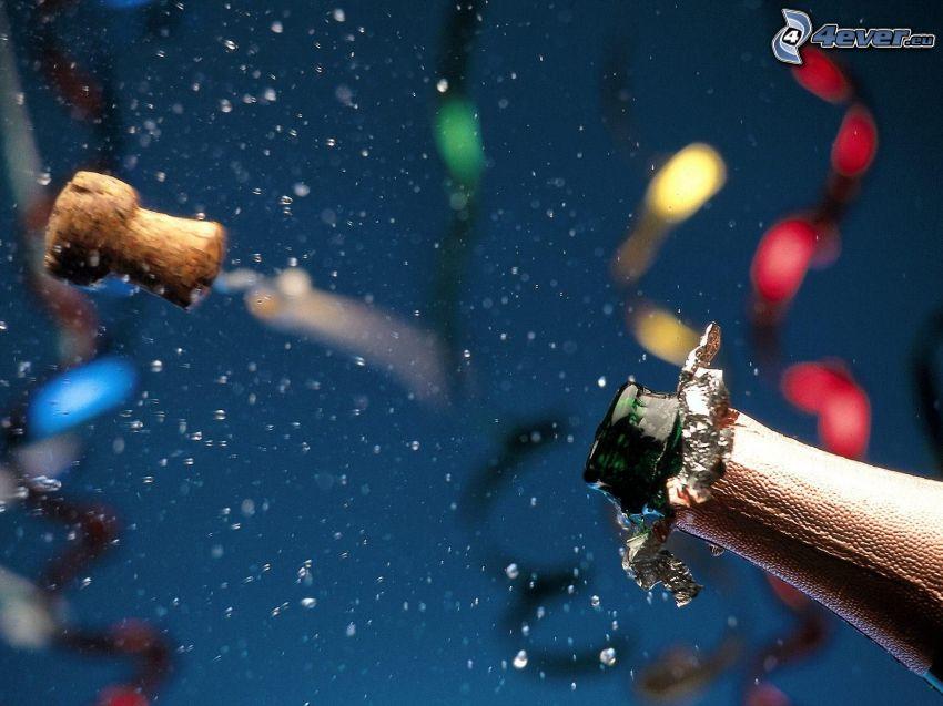 champagne, tappo, celebrazione