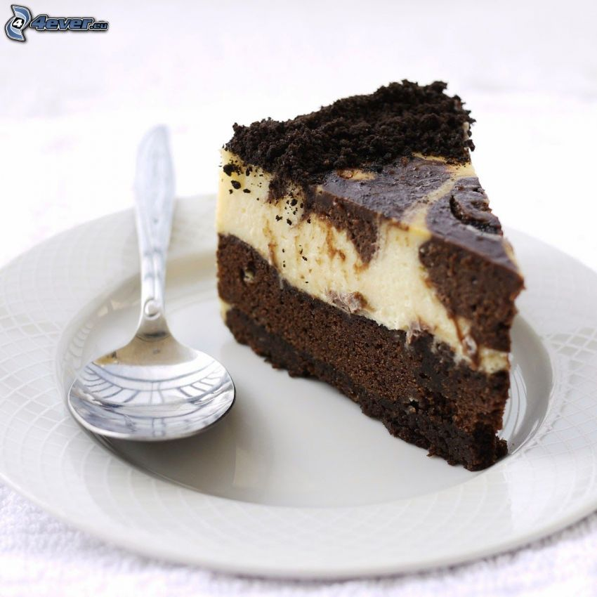 cheesecake, cucchiaio