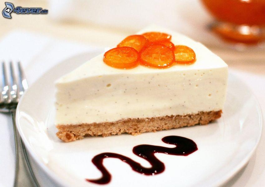 cheesecake, forchetta