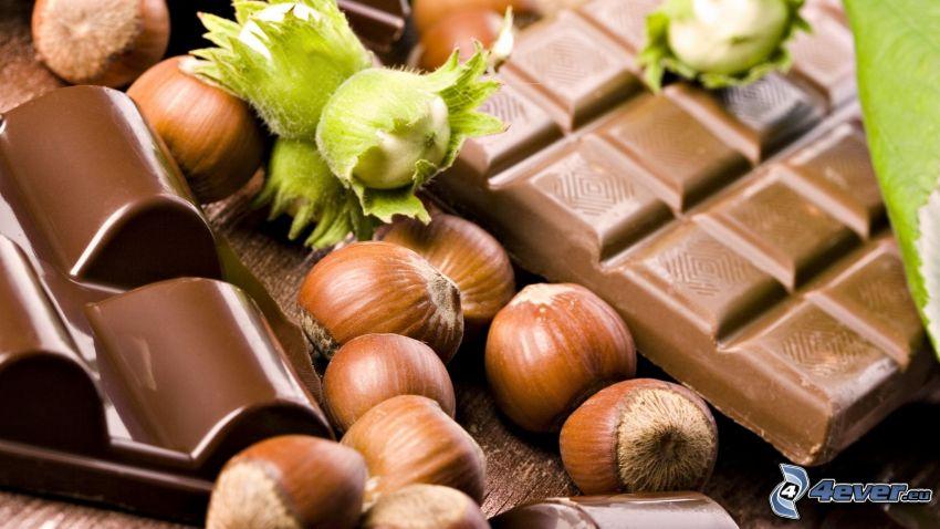 cioccolato, nocciole
