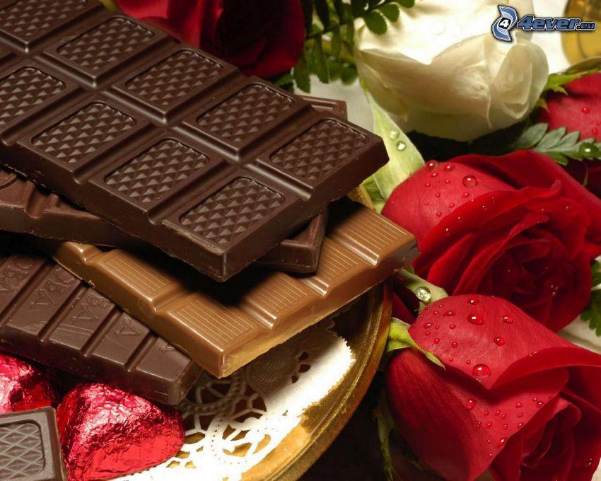 cioccolato, rose