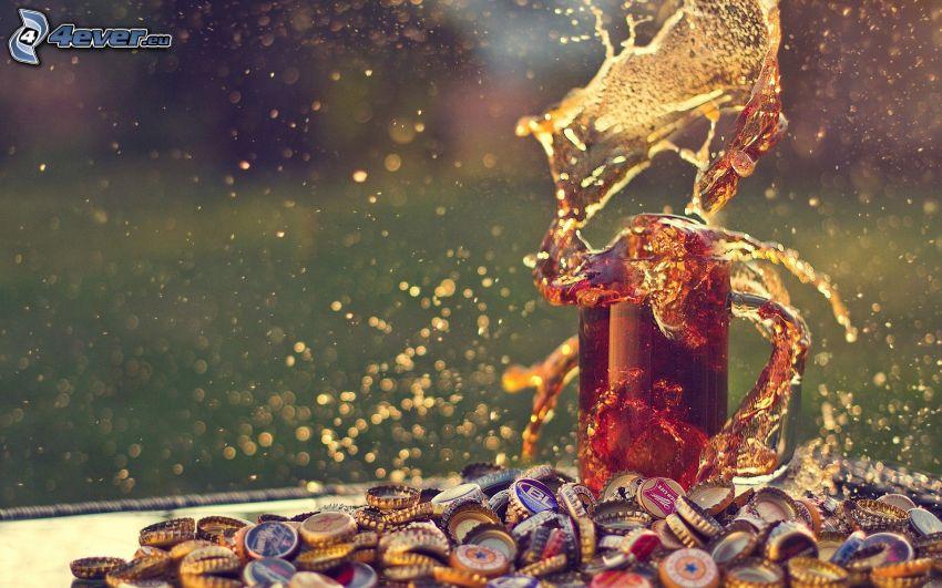 Coca Cola, splash, tappi