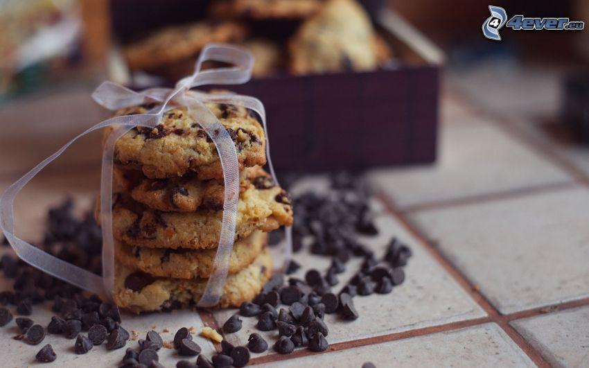 cookies, fiocco, cioccolato
