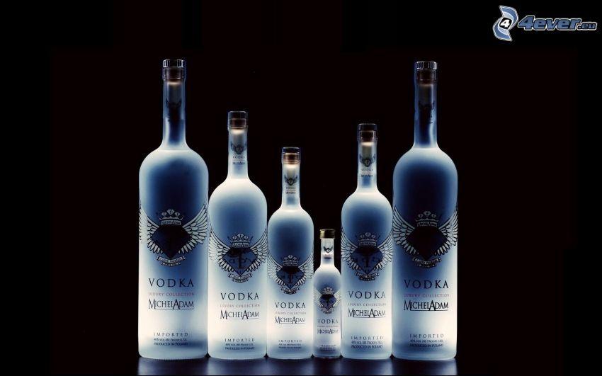 Michel Adam Vodka, bottiglie, alcool