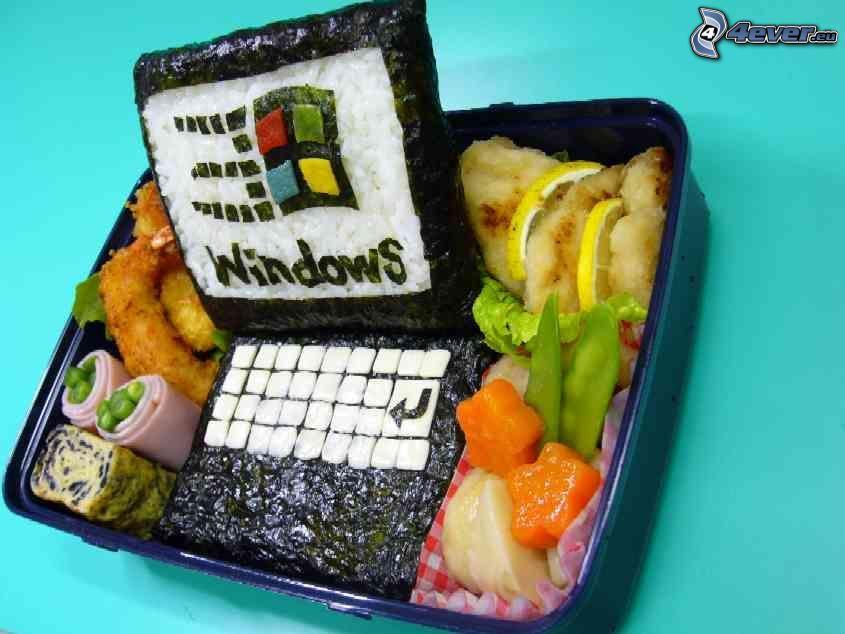notebook, cibo, sushi