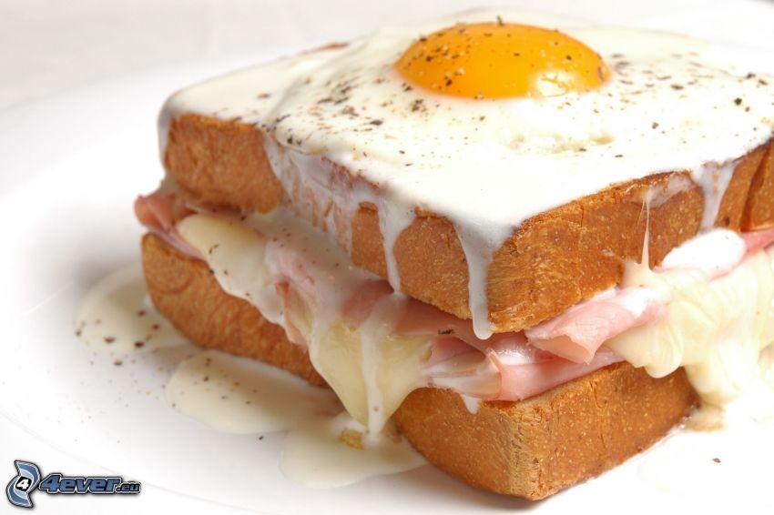 panino, uovo fritto