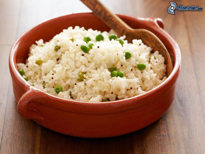 riso, risotto, tazza