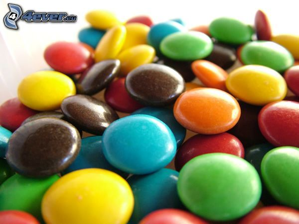 Smarties, caramelle colorate