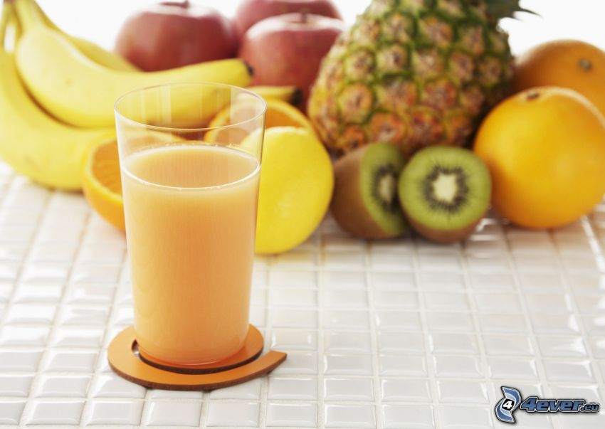 succo di frutta fresca, frutta