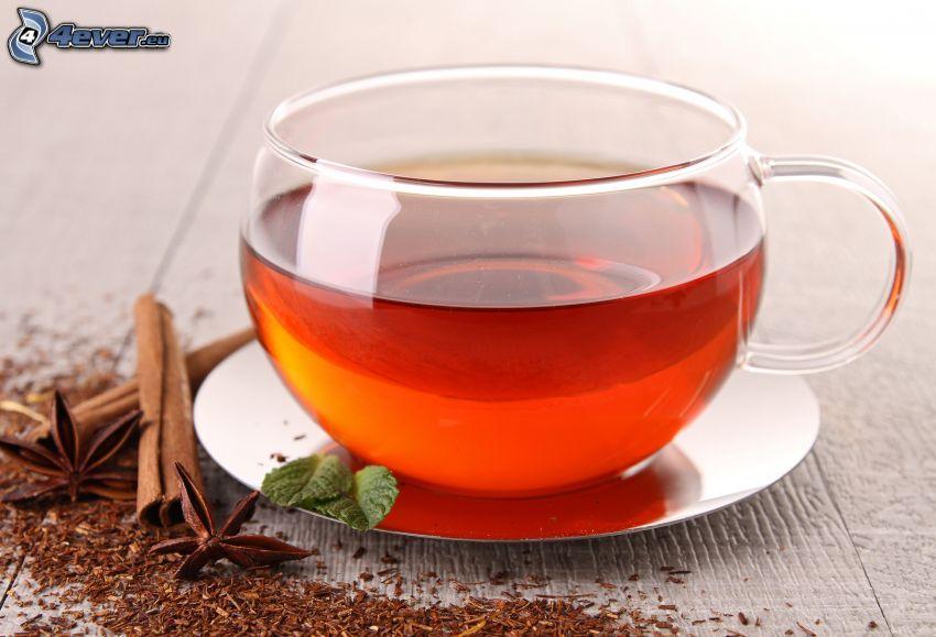tazza di tè, cannella
