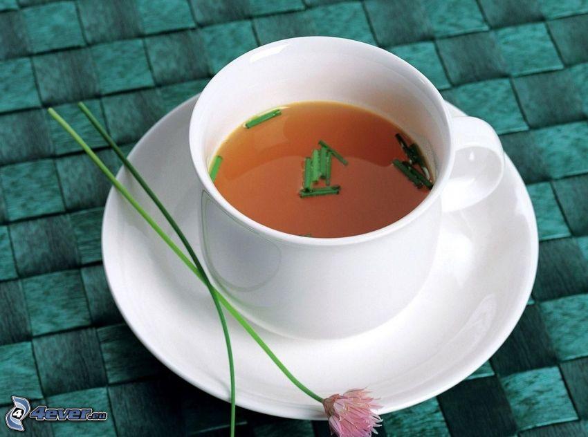 tazza di tè, fiore rosa