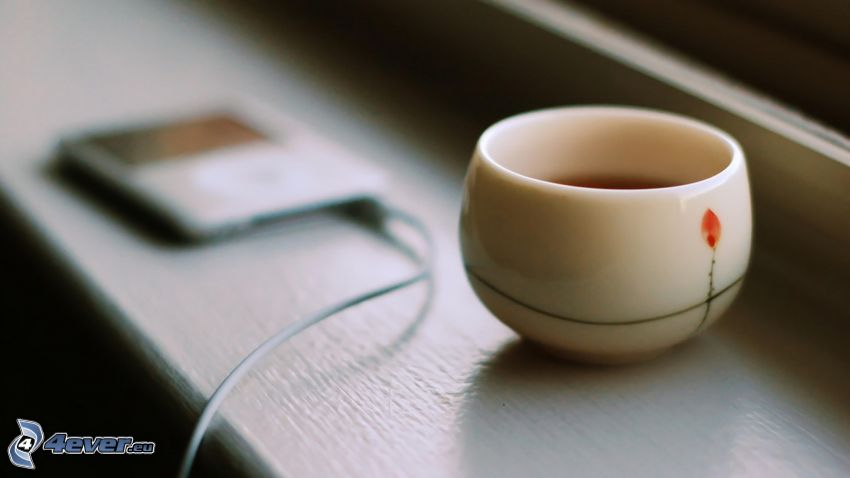 tazza di tè, iPhone