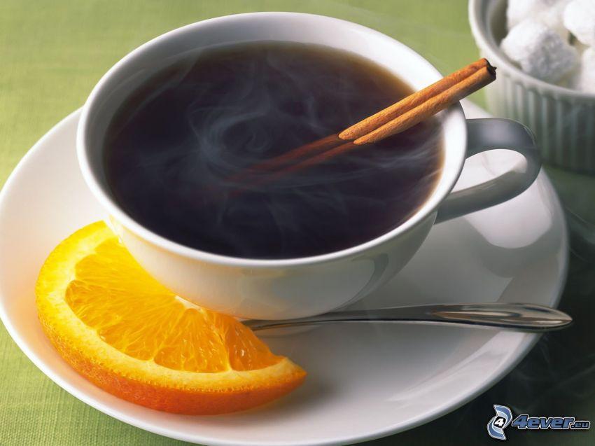 tè con cannella e limone