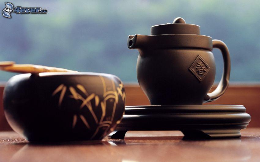 teiera, tazza di tè