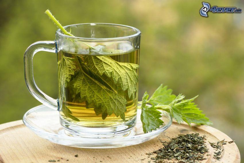 tisana, ortica, tazza di tè