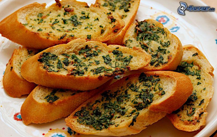 toast, baguette