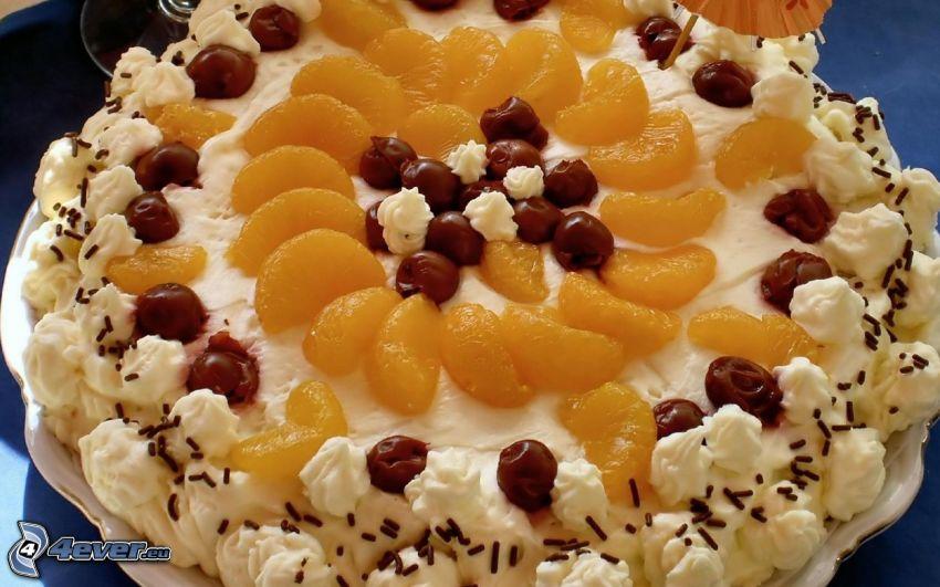torta, frutta