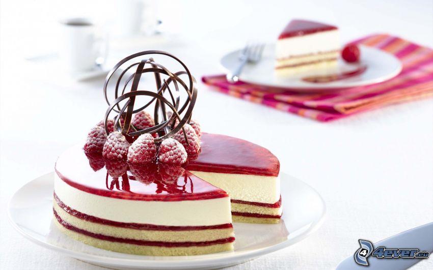 torta, Lamponi, gelatina