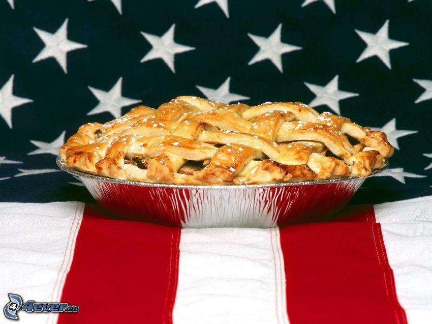 torta di mele, torta, Bandiera degli Stati Uniti