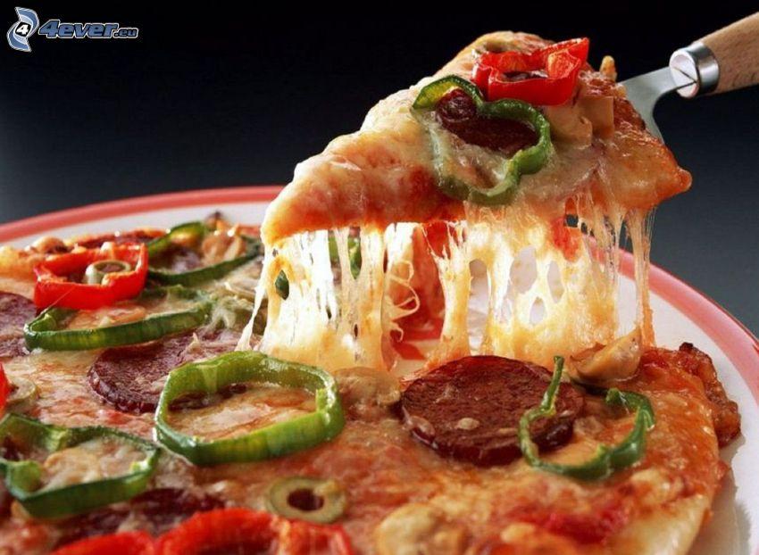 un pezzo di pizza