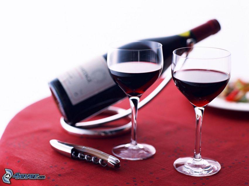 vino, bicchieri