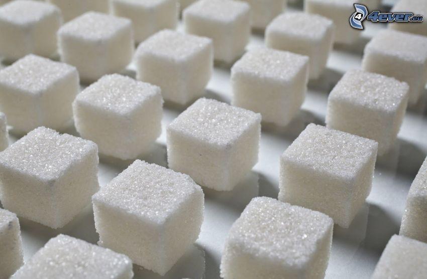 zucchero in quadretti