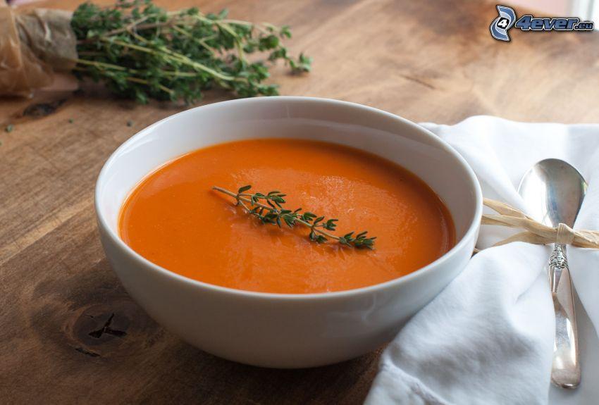 zuppa di pomodoro, cucchiaio