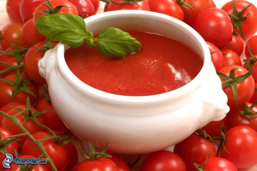 zuppa di pomodoro, pomodorini cherry
