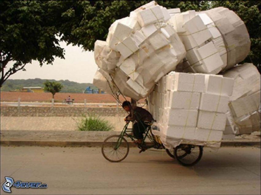 carico, bicicletta